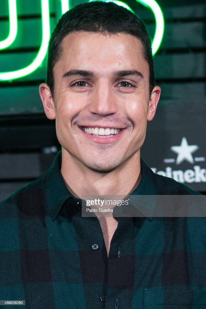 Actor Alex Gonzalez attends a Heineken party at 'Media Lab Prado' on November 6, 2014 in Madrid, Spain.