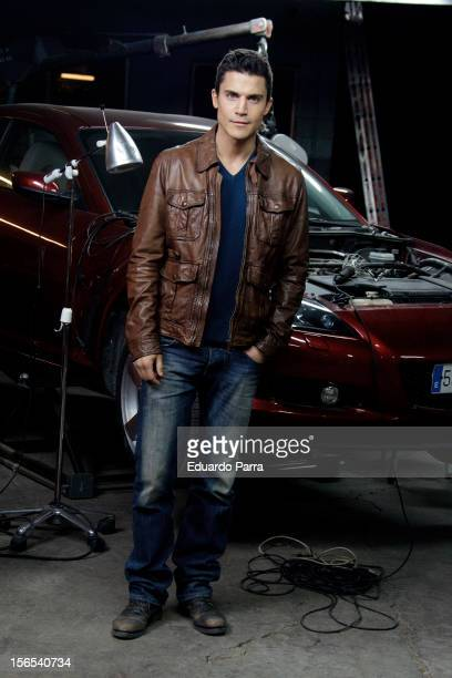 Actor Alex Gonzalez attends a photo session at 'Combustion' set filming at Santa Catalina avenue on November 16 2012 in Madrid Spain