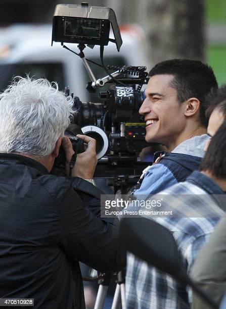 Actor Alex Gonzalez is seen during the set filming of a commercial for 'Vivesoy' on March 31 2015 in Madrid Spain