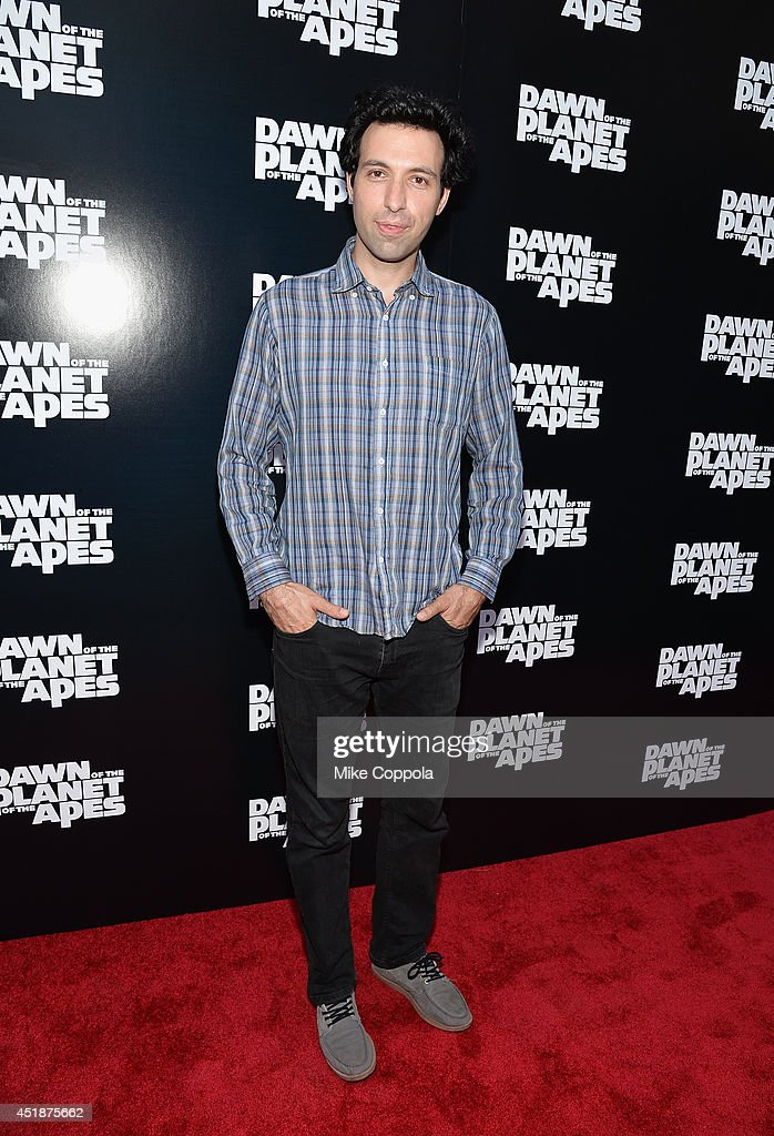 Actor Alex Karpovsky attends the 'Dawn Of The Planets Of The Apes' premiere at Williamsburg Cinemas on July 8 2014 in New York City