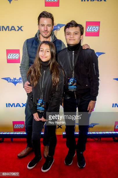 Actor Alex Lundqvist and Family attend 'The Lego Batman Movie' New York Screening at AMC Loews Lincoln Square 13 on February 9 2017 in New York City