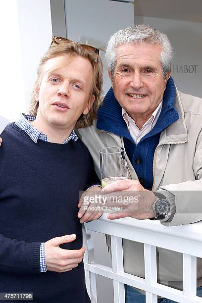 Actor Alex Lutz and Director Claude Lelouch attend the 2015 Roland Garros French Tennis Open Day Eleven on June 3 2015 in Paris France
