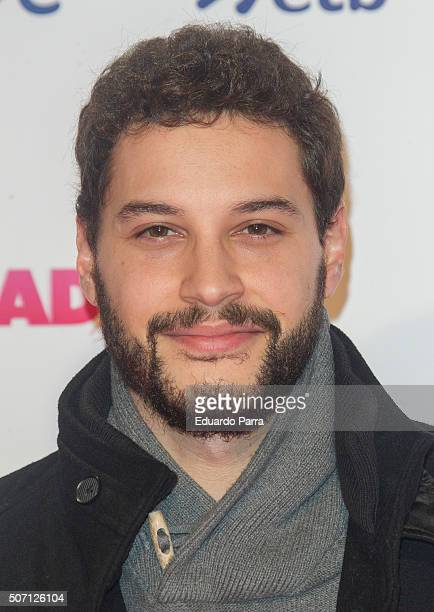 Actor Alex Martinez attends 'Embarazados' premiere at Capitol cinema on January 27 2016 in Madrid Spain