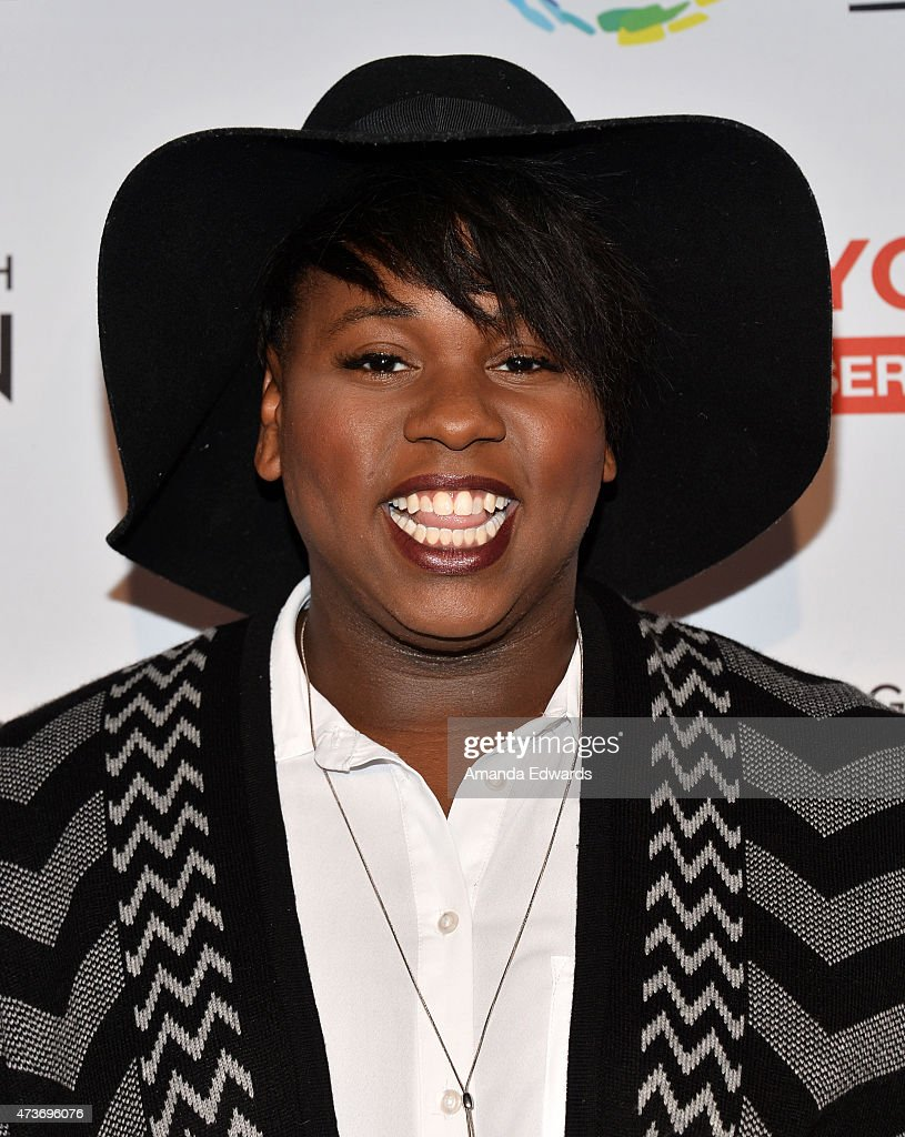 Actor Alex Newell arrives at An Evening With Women Benefiting The Los Angeles LGBT Center at the Hollywood Palladium on May 16 2015 in Los Angeles...