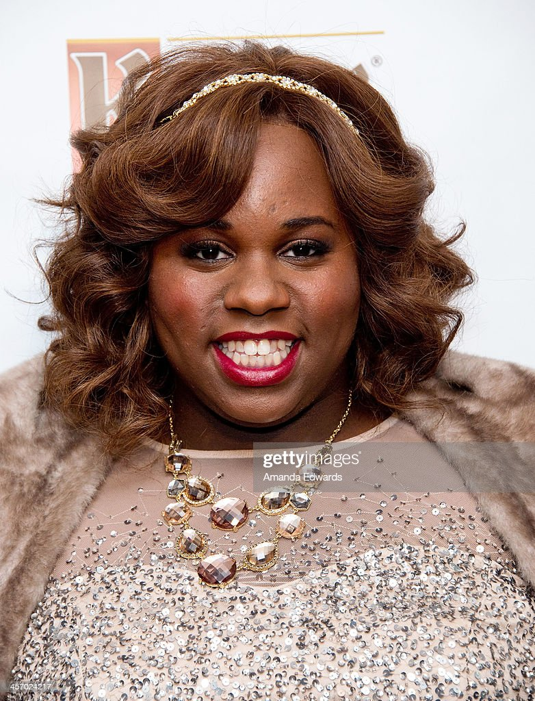 Actor Alex Newell arrives at the GLAAD Tidings Holiday Benefit at Andaz Hotel on December 15 2013 in Los Angeles California