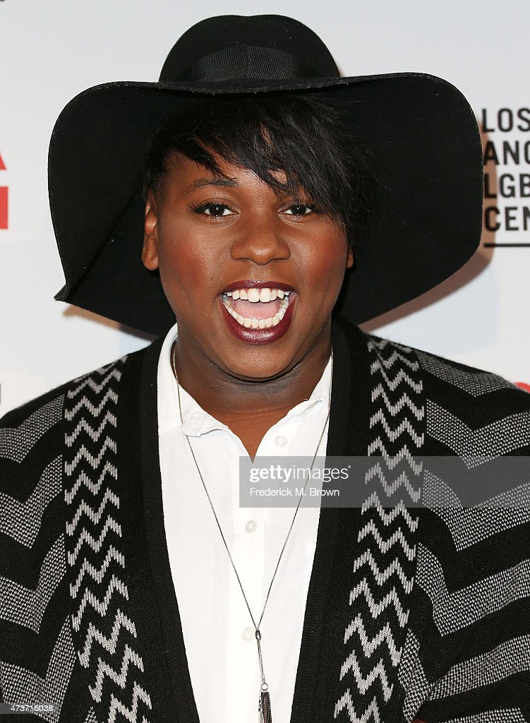 Actor Alex Newell attends An Evening with Women Benefiting the Los Angeles LGBT Center at the Hollywood Palladium on May 16 2015 in Los Angeles...