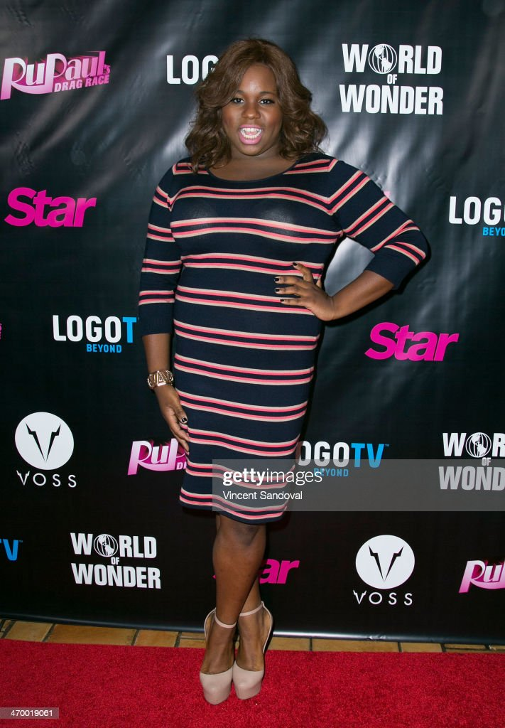 Actor Alex Newell attends Logo's 'RuPaul's Drag Race' season 6 premiere party at Hollywood Roosevelt Hotel on February 17 2014 in Hollywood California