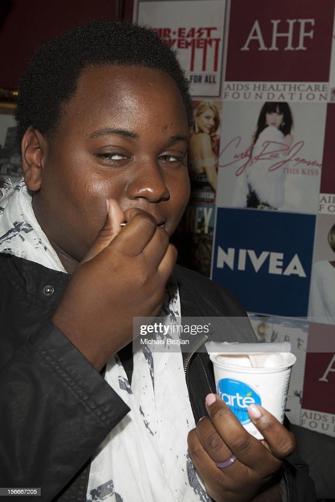Actor Alex Newell attends Nivea Kiss Lounge For AMA Weekend Inside - Day 2 on November 18, 2012 in Los Angeles, California.