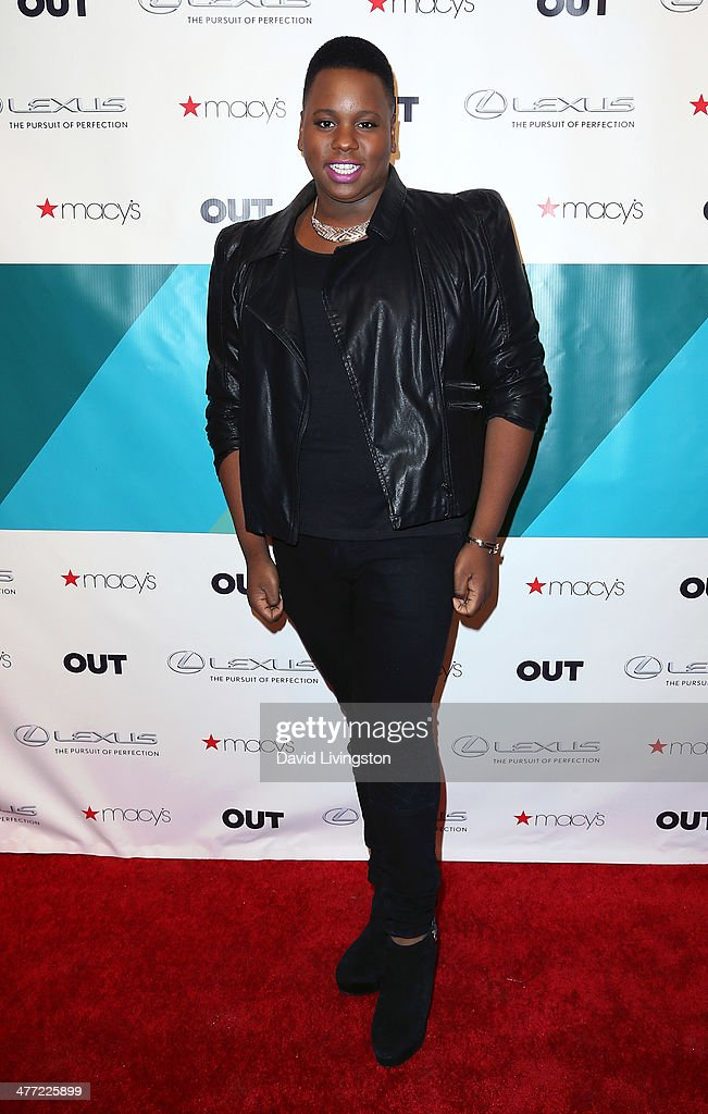 Actor Alex Newell attends Out Magazine's Rock OUT event to kick off Los Angeles Fashion Week at Siren Studios on March 7 2014 in Hollywood California