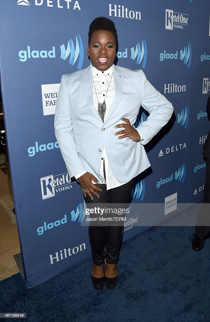 Actor Alex Newell attends the 26th Annual GLAAD Media Awards at The Beverly Hilton Hotel on March 21 2015 in Beverly Hills California
