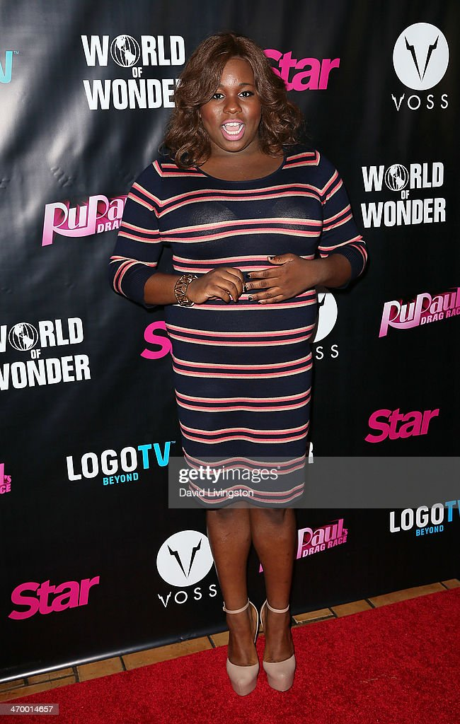 Actor Alex Newell attends the 'RuPaul's Drag Race' Season 6 premiere party at The Roosevelt Hotel on February 17 2014 in Hollywood California