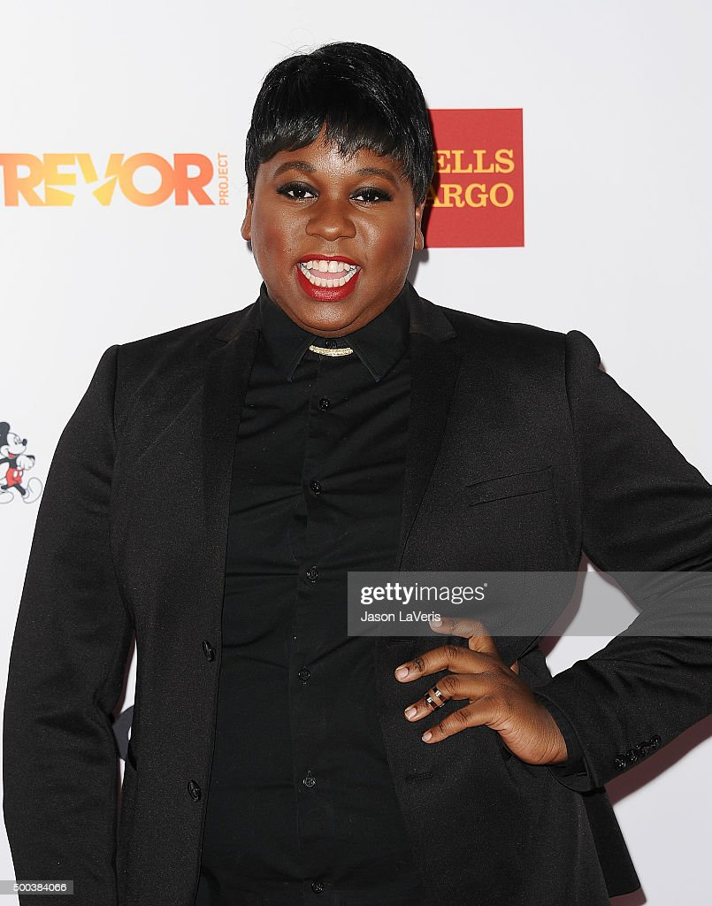 Actor Alex Newell attends TrevorLIVE LA 2015 at Hollywood Palladium on December 6 2015 in Los Angeles California