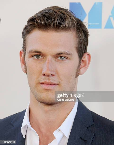 Actor Alex Pettyfer arrives at the 2012 Los Angeles Film Festival closing night gala premiere of 'Magic Mike' at Regal Cinemas LA Live on June 24...