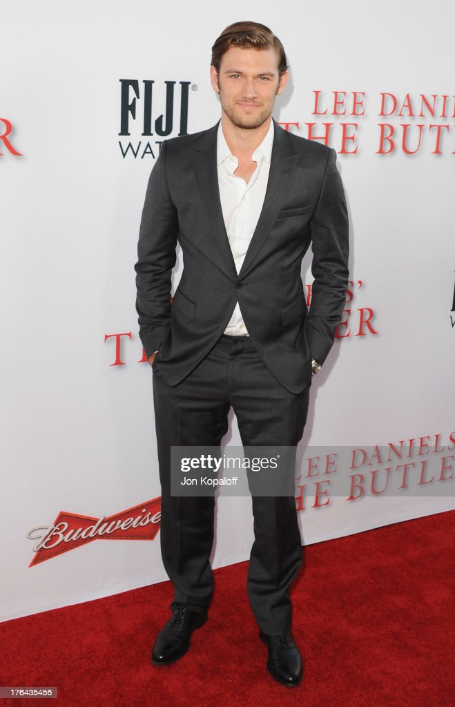 Actor Alex Pettyfer arrives at the Los Angeles Premiere 'Lee Daniels' The Butler' at Regal Cinemas L.A. Live on August 12, 2013 in Los Angeles, California.
