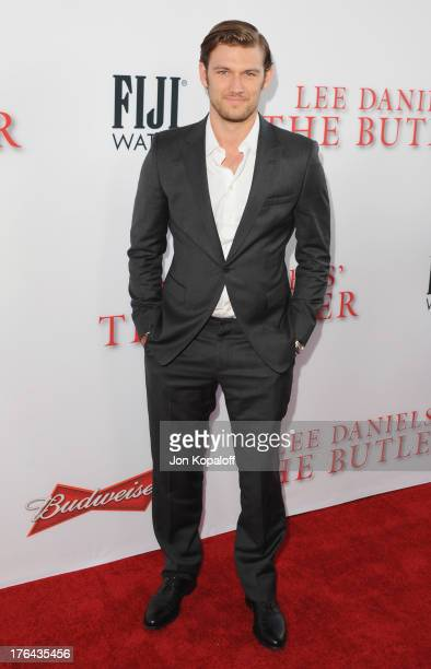 Actor Alex Pettyfer arrives at the Los Angeles Premiere 'Lee Daniels' The Butler' at Regal Cinemas LA Live on August 12 2013 in Los Angeles California