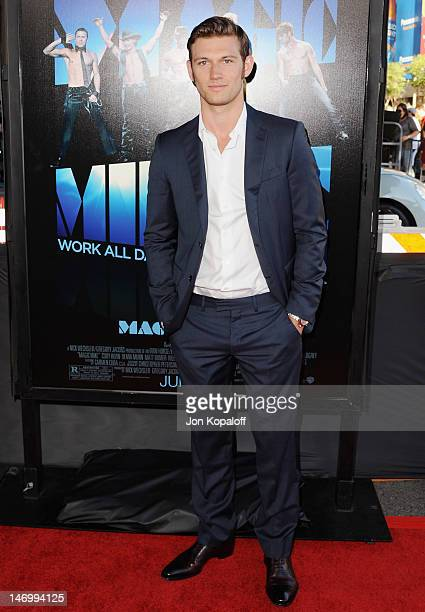 Actor Alex Pettyfer arrives at the 'Magic Mike' Closing Night Premiere at the 2012 Los Angeles Film Festival at Regal Cinemas LA Live on June 24 2012...