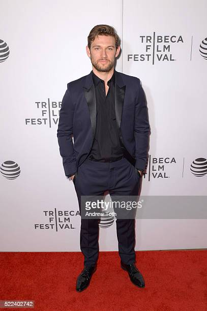Actor Alex Pettyfer attends the 'Elvis Nixon' premiere during the 2016 Tribeca Film Festival at John Zuccotti Theater at BMCC Tribeca Performing Arts...
