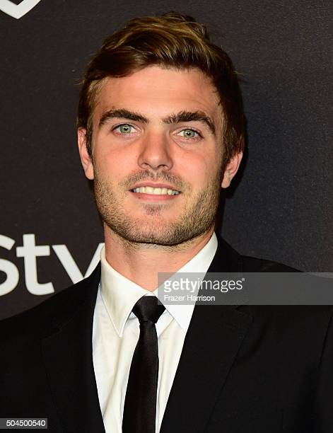 Actor Alex Roe attends InStyle and Warner Bros 73rd Annual Golden Globe Awards PostParty at The Beverly Hilton Hotel on January 10 2016 in Beverly...