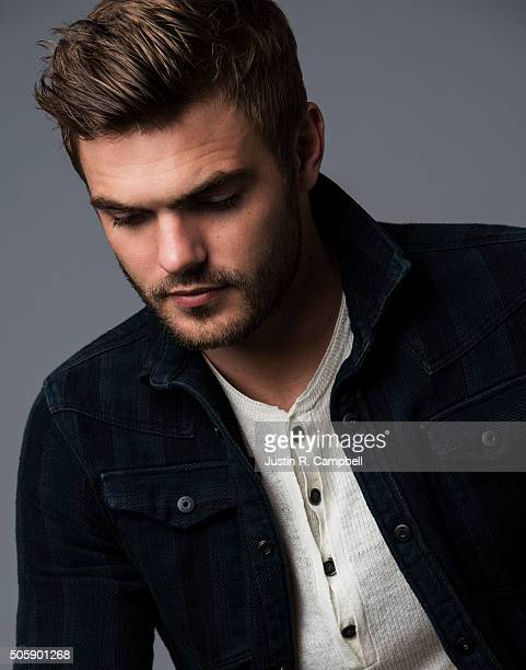 Actor Alex Roe for Just Jared on December 8 2015 in Los Angeles California Photo by Justin R Campbell/Contour by Getty Images