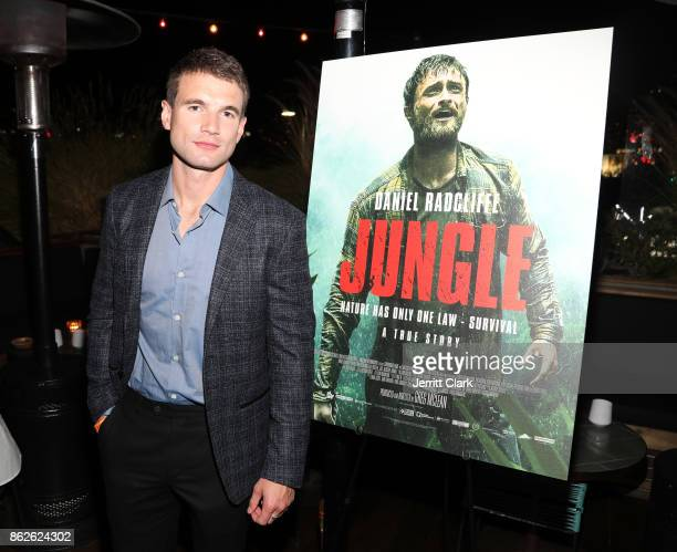 Actor Alex Russell attends a Screening Of 'Jungle' at EP LP on October 17 2017 in West Hollywood California