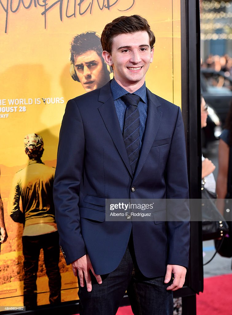 Actor Alex Shaffer attends the premiere of Warner Bros Pictures' 'We Are Your Friends' at TCL Chinese Theatre on August 20 2015 in Hollywood...