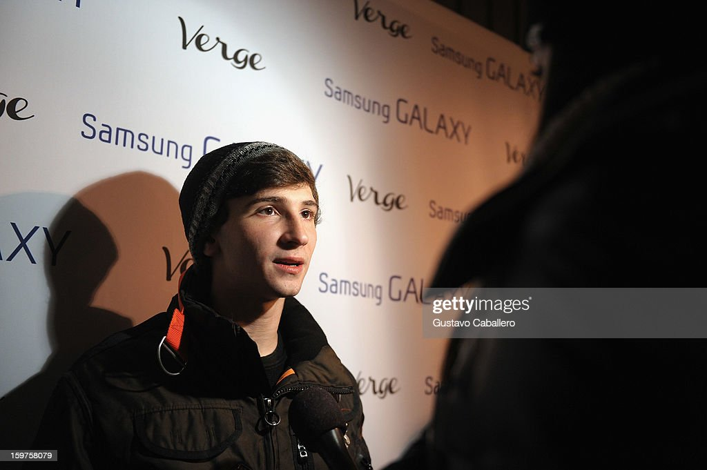 Actor Alex Shaffer attends The Verge List Party at the Samsung Gallery Launch Party To Celebrate The Verge List - 2013 on January 19, 2013 in Park City, Utah.