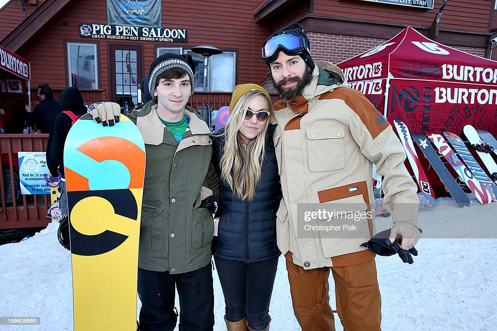 Actor Alex Shaffer, Makenzie Halen and actor Martin Starr attend Burton Learn To Ride - Day 2 on January 20, 2013 in Park City, Utah.