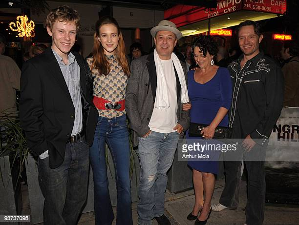 Actor Alexander De Jordy Actress Alexia Fast Director Rob W King Actress Gabrielle Rose and Actor John PyperFerguson attends the 'Hungry Hills' after...