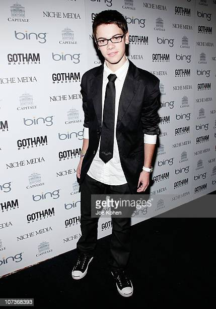 Actor Alexander Gould attends Mary J Blige Ed Westwick Amar'e Stoudemire host Niche Media's CEO Jason Binn's 10th Annual Gotham Gala at Capitale on...