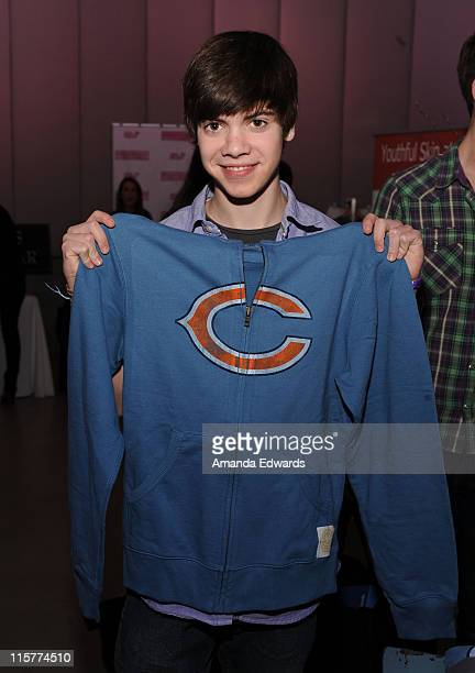 Actor Alexander Gould poses at Retro Sport during the Kari Feinstein Golden Globes Style Lounge at Zune LA on January 15 2010 in Los Angeles...