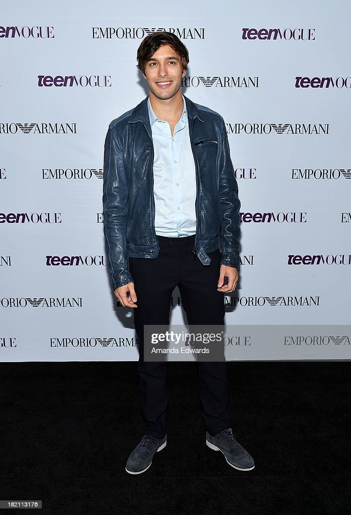 Actor <a gi-track='captionPersonalityLinkClicked' href=/galleries/search?phrase=Alexander+Koch+-+Actor&family=editorial&specificpeople=15376822 ng-click='$event.stopPropagation()'>Alexander Koch</a> arrives at the 11th Annual Teen Vogue Young Hollywood Party With Emporio Armani on September 27, 2013 in Los Angeles, California.