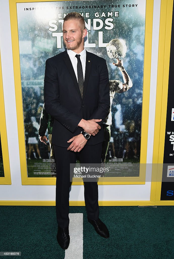 Actor Alexander Ludwig arrives at the premire of Tri Star Pictures' ' When The Game Stands Tall' at the ArcLight Cinemas on August 4, 2014 in Hollywood, California.