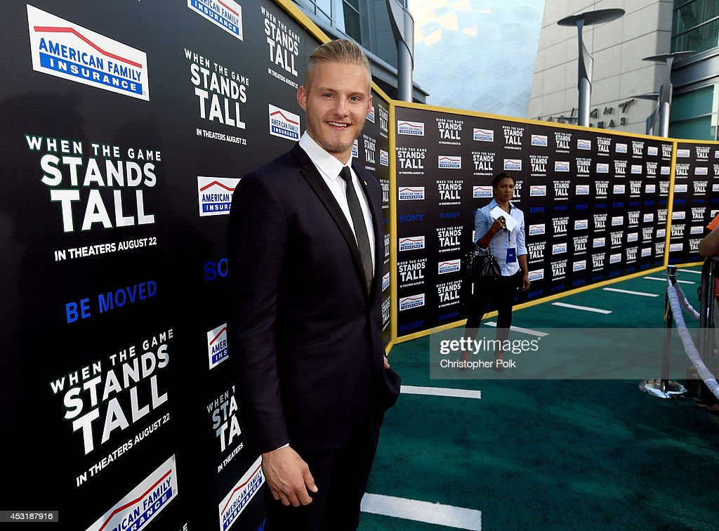 Actor Alexander Ludwig attends the premiere of Tri Star Pictures' 'When The Game Stands Tall' at ArcLight Cinemas on August 4, 2014 in Hollywood, California.