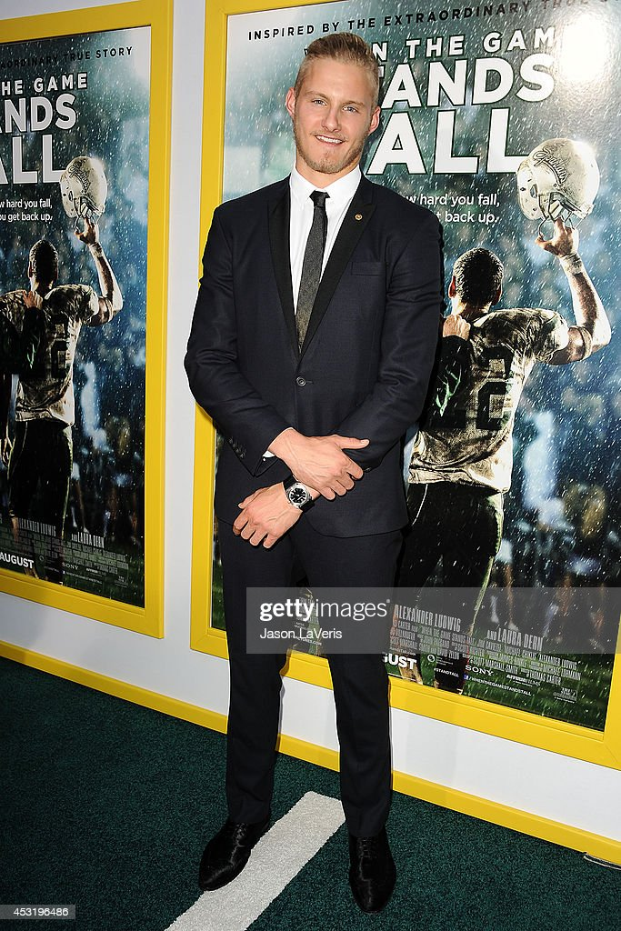 Actor Alexander Ludwig attends the premiere of 'When The Game Stands Tall' at ArcLight Hollywood on August 4, 2014 in Hollywood, California.