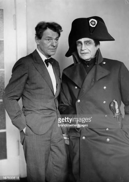 Actor Alexander Moissi and actor Albert Bassermann as Napoleon at the Volksbühne Berlin Dress rehearsal January 21th 1932 Photograph Der Schauspieler...