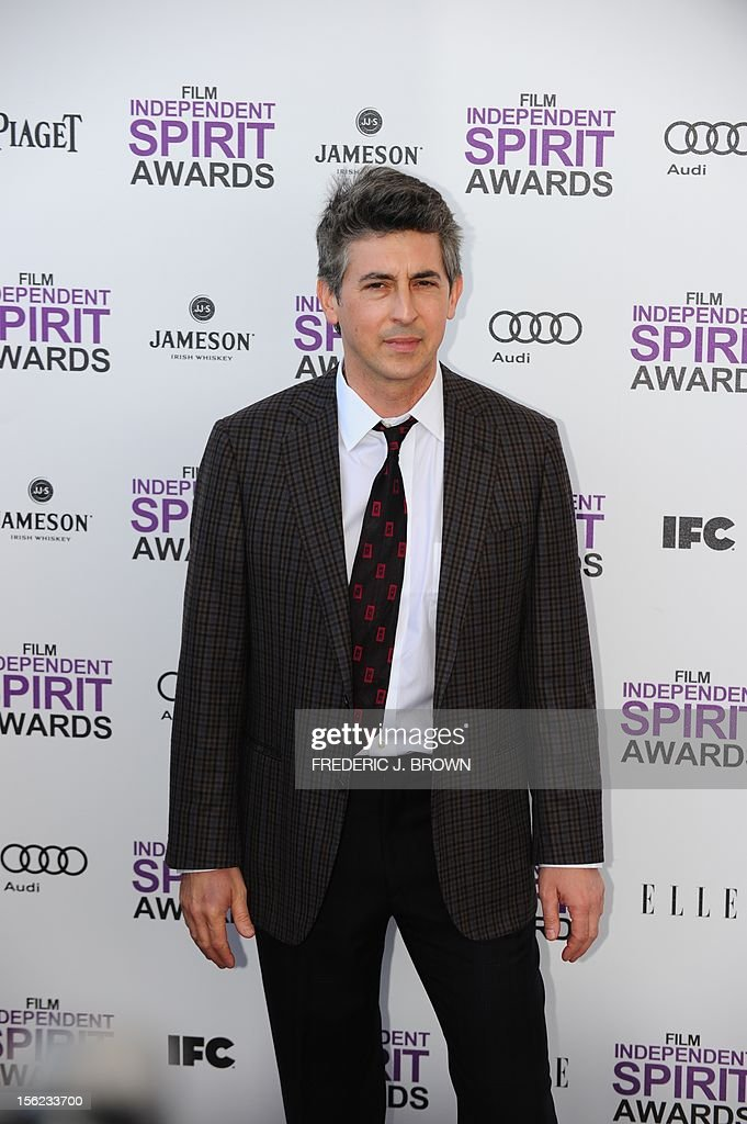 Actor Alexander Payne arrives on the red carpet on February 25, 2012 for the Independent Spirit Awards in Santa Monica, California. AFP PHOTO/FREDERIC J.BROWN