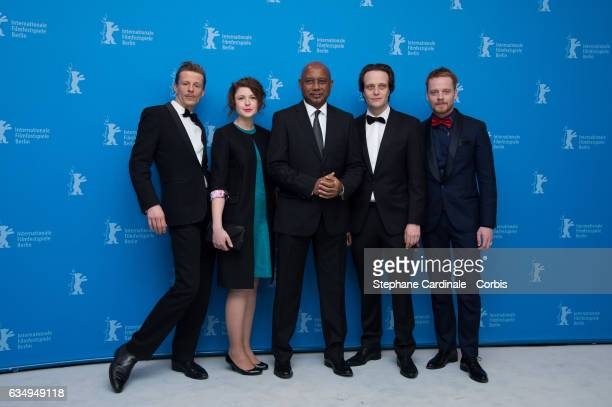 Actor Alexander Scheer actress Hannah Steele film director and screenwriter Raoul Peck actor August Diehl and actor Stefan Konarske attend the 'The...