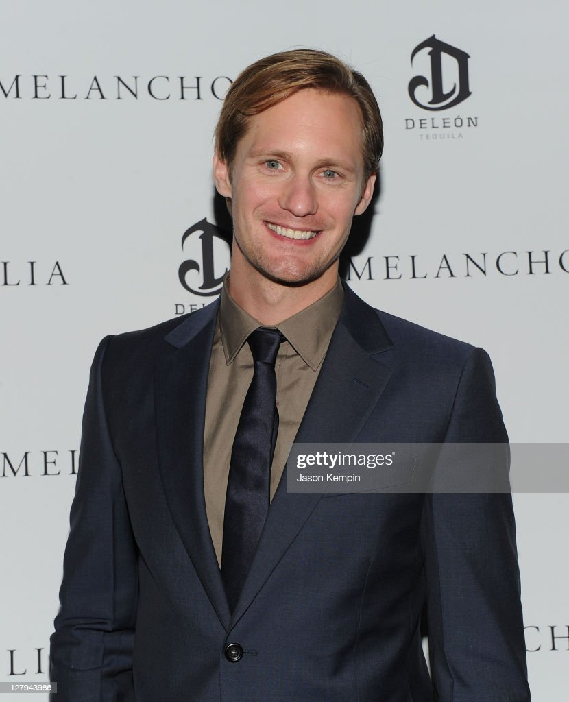 Actor Alexander Skarsgaard attends the 'Melancholia' premiere after party during the 49th annual New York Film Festival at the Stone Rose Lounge on...