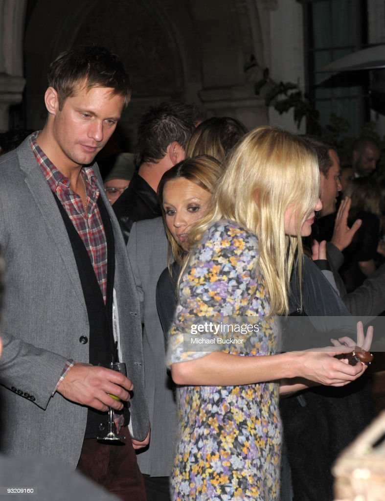 Actor Alexander Skarsgard and actress Kate Bosworth attend the GQ 'Men Of The Year' party held at Chateau Marmont on November 18 2009 in Hollywood...