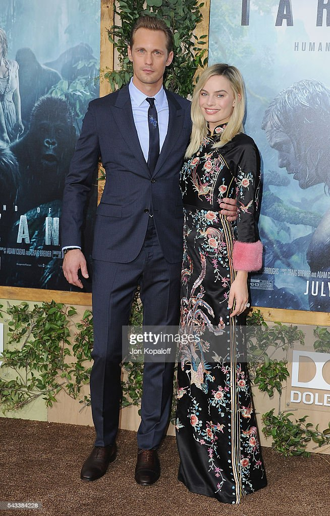 Actor Alexander Skarsgard and actress <a gi-track='captionPersonalityLinkClicked' href=/galleries/search?phrase=Margot+Robbie&family=editorial&specificpeople=5781742 ng-click='$event.stopPropagation()'>Margot Robbie</a> arrive at the Los Angeles Premiere 'The Legend Of Tarzan' at TCL Chinese Theatre on June 27, 2016 in Hollywood, California.