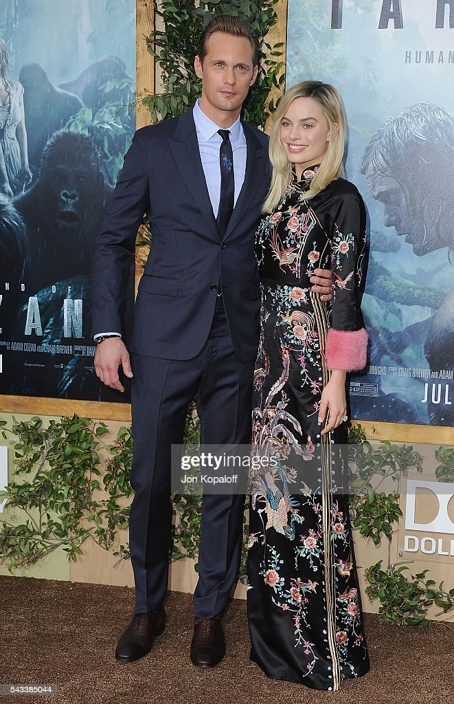Actor Alexander Skarsgard and actress Margot Robbie arrive at the Los Angeles Premiere 'The Legend Of Tarzan' at TCL Chinese Theatre on June 27, 2016 in Hollywood, California.