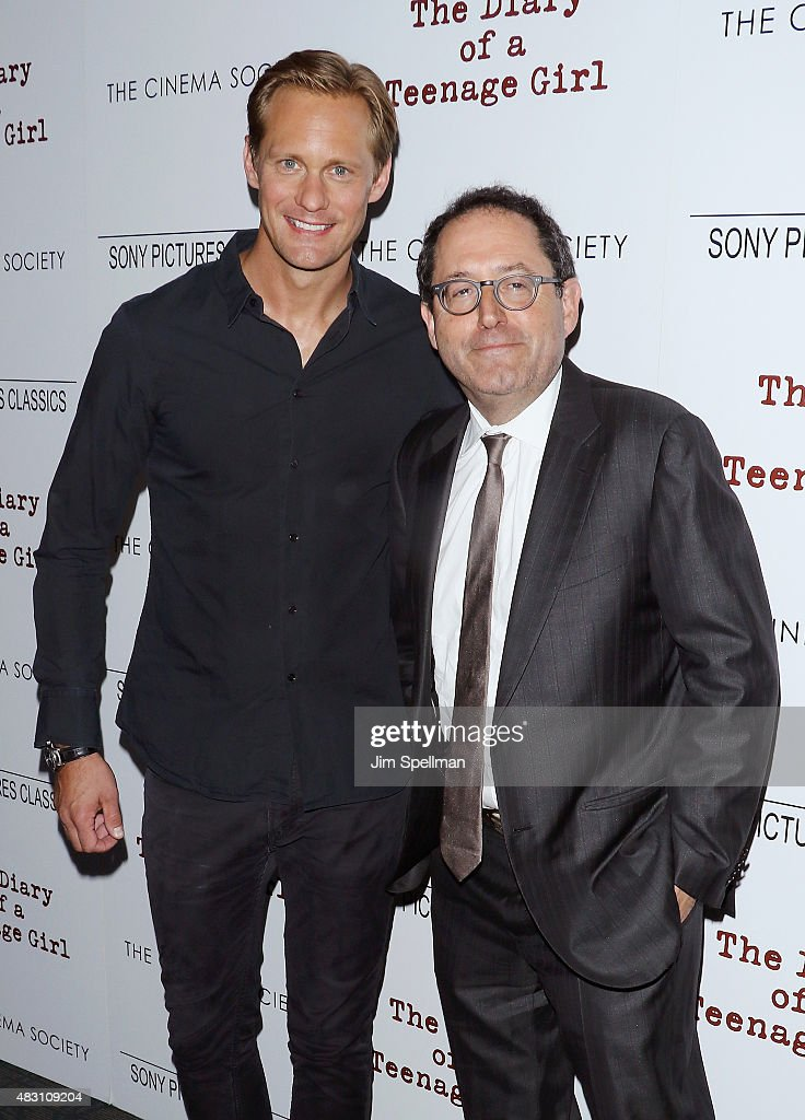 Actor Alexander Skarsgard and co-president and co-founder of Sony Pictures Classics Michael Barker attend the Sony Pictures Classics with The Cinema Society host a screening of 'The Diary Of A Teenage Girl' at Landmark's Sunshine Cinema on August 5, 2015 in New York City.