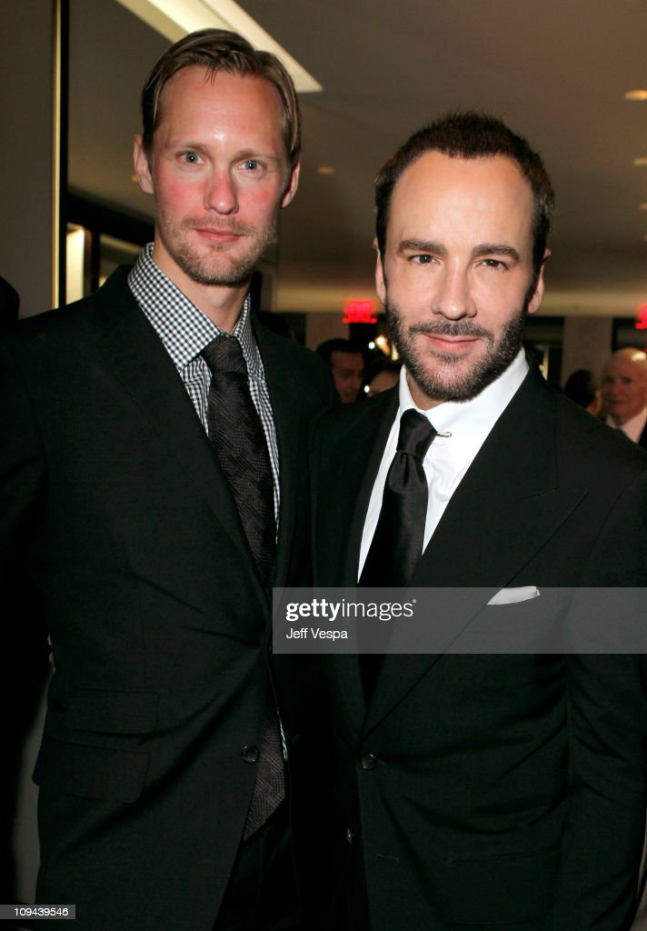 Actor Alexander Skarsgard and Designer Tom Ford attend the TOM FORD store opening at TOM FORD Beverly Hills on February 24 2011 in Beverly Hills...