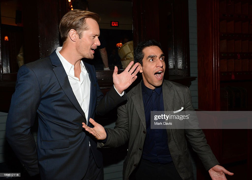 Actor Alexander Skarsgard (L) and director <a gi-track='captionPersonalityLinkClicked' href=/galleries/search?phrase=Zal+Batmanglij&family=editorial&specificpeople=4619710 ng-click='$event.stopPropagation()'>Zal Batmanglij</a> arrive to the after party of Fox Searchlight Pictures' 'The East' presented by Piaget at ArcLight Hollywood on May 28, 2013 in Hollywood, California.