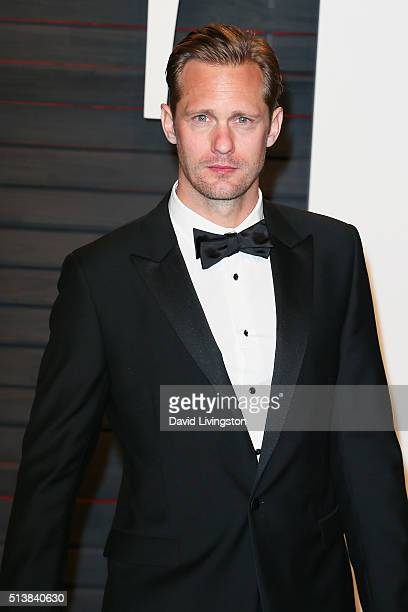 Actor Alexander Skarsgard arrives at the 2016 Vanity Fair Oscar Party Hosted by Graydon Carter at the Wallis Annenberg Center for the Performing Arts...