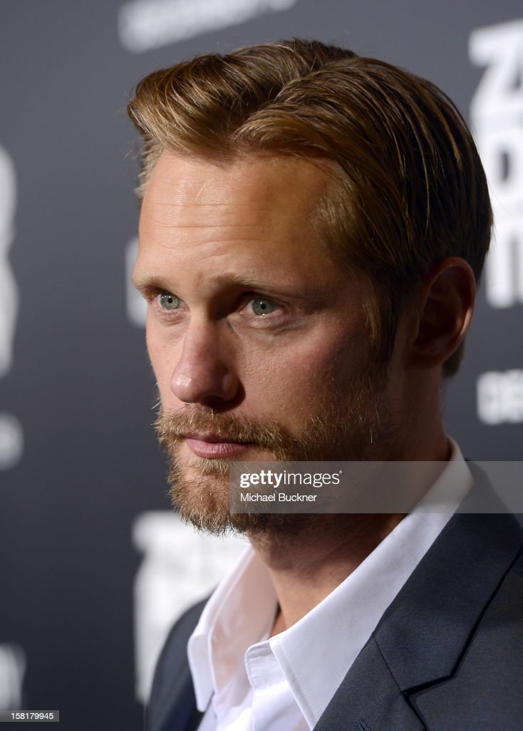 Actor Alexander Skarsgard arrives at the Los Angeles premiere of Columbia Pictures' 'Zero Dark Thirty' at Dolby Theatre on December 10, 2012 in Hollywood, California.