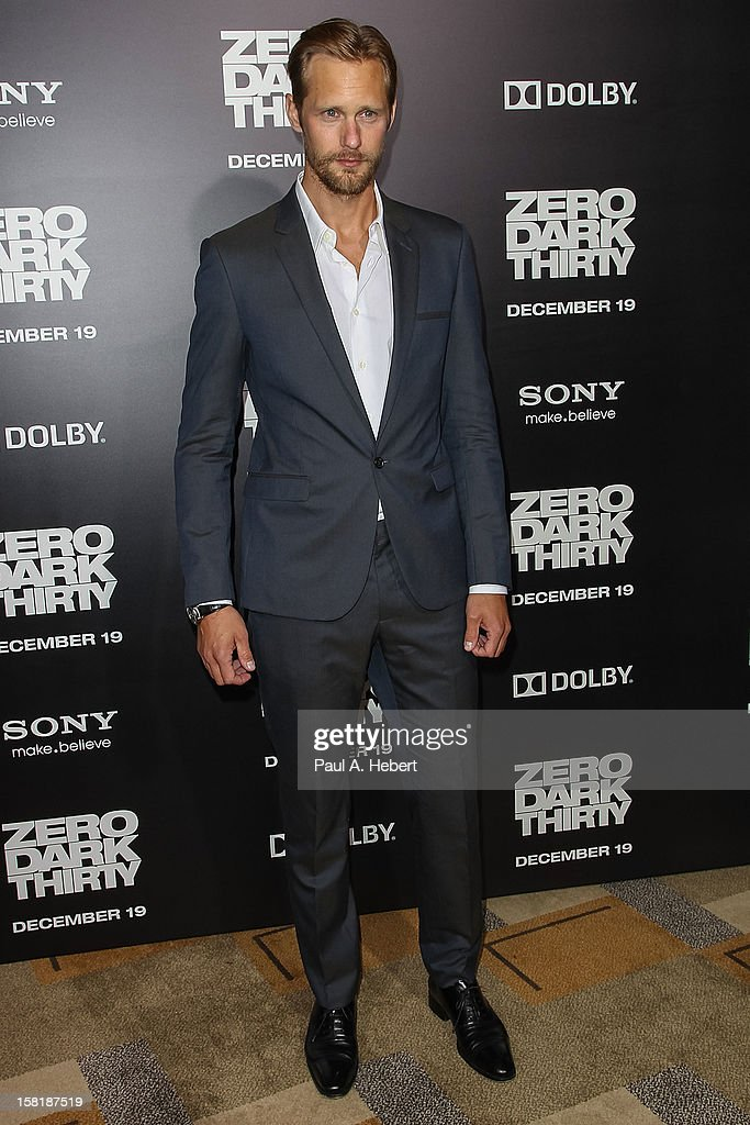 Actor Alexander Skarsgard arrives at the premiere of Columbia Pictures' 'Zero Dark Thirty' held at the Dolby Theatre on December 10, 2012 in Hollywood, California.