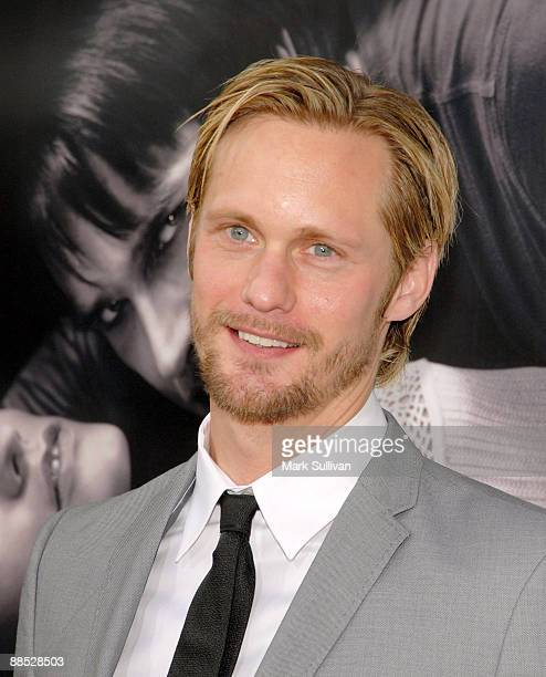 Actor Alexander Skarsgard arrives at the premiere of 'True Blood' 2nd Season at the Paramount Theater on the Paramount Studios lot on June 9 2009 in...