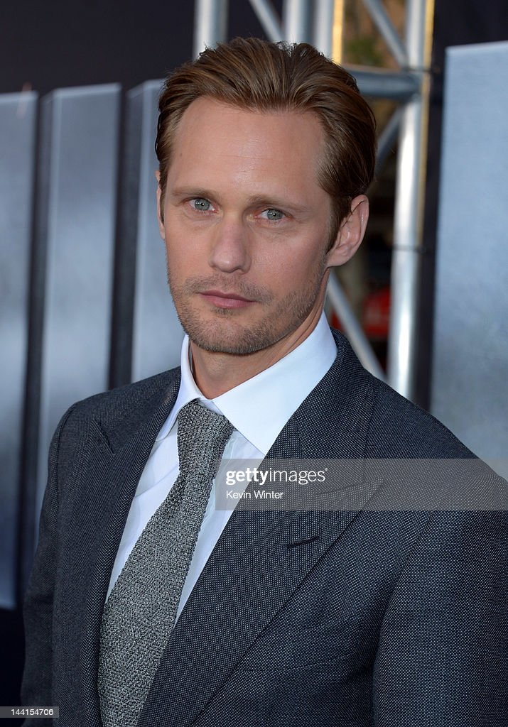 Actor Alexander Skarsgard arrives at the premiere of Universal Pictures' 'Battleship' at Nokia Theatre L.A. Live on May 10, 2012 in Los Angeles, California.