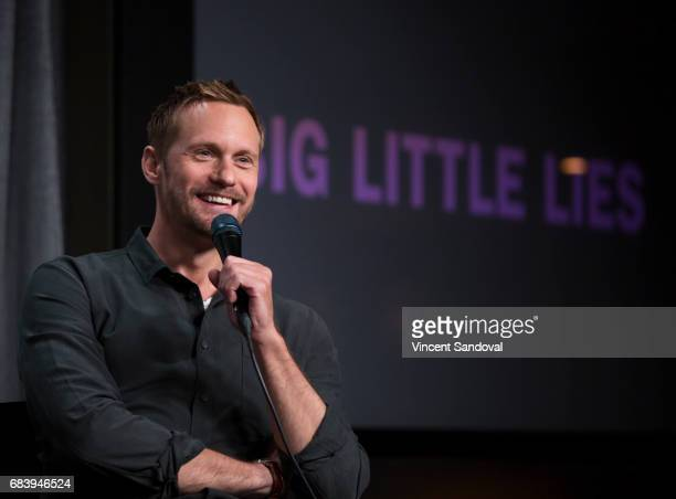 Actor Alexander Skarsgard attends SAGAFTRA Foundation's Conversations with 'Big Little Lies' at SAGAFTRA Foundation Screening Room on May 16 2017 in...